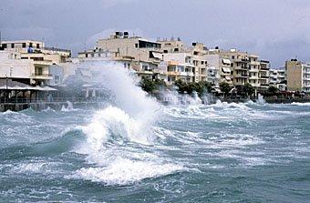 Sturm in Ierapetra Kreta