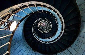 Wendeltreppe in einem Leuchtturm