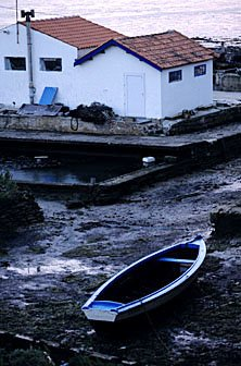Boot bei Ebbe Atlantikküste Frankreich