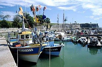 Fischereihafen von Chateau d'Oléron