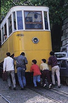 Ascensor in Lissabon