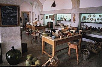 Schlossküche des Pena Palastes in Sintra Portugal