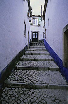 Treppengasse in Obidos