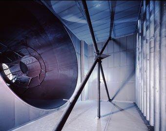 Abluftsystem Testanlage für Flugzeugturbienen