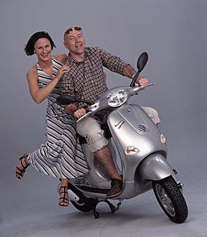 Freizeit mit Motorroller