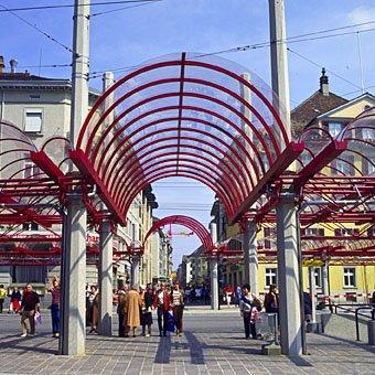 Busbahnhof und Marktgasse in Winterthur