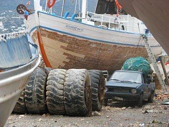 Fischerboote im Hafen von Agios Nikolaos