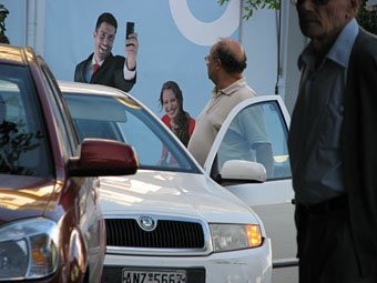 Handywerbung in Kreta