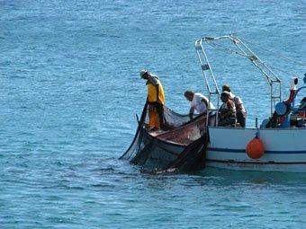 Fischer bei der Arbeit in Kreta