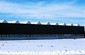 Industriegebäude im winter