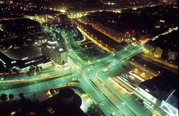 Berliner-Strassen bei Nacht