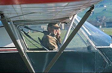 Pilot vor Start