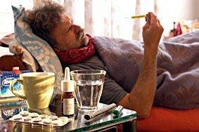 Fiebermessen, Grippe, Krank, Fieber
