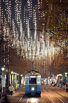 Zürich Weihnachtsbeleuchtung.Zürich Bilderhaus Fotograf Winterthur