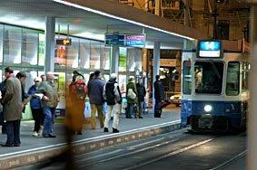 Tramhaltestelle beim HB Zürich