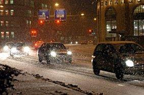 Verschneite Strassen