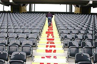 Treppen im Stade de Suisse Bern (Wankdorf)