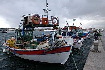 Fischerboote in Kreta