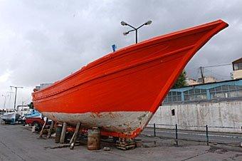 Schiffsrumpf Kreta