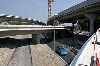 Uetlibergtunnel Baustelle