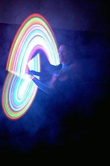 jonglieren mit Licht