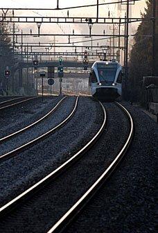 Eisenbahn im Morgenlicht
