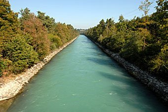 Flussbegradigung der Aare nach Thun