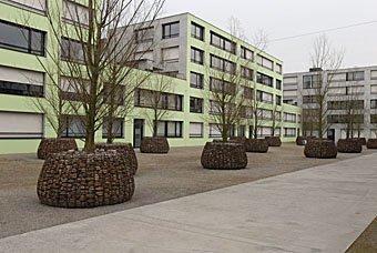 Innenhof  Pflegiareal Carmenstrasse in Zürich