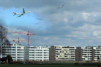 Fluglärm in Leutschenbach Zürich
